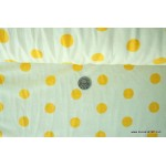 *FN02204(SALE)-* Jersey Knit: Yellow polka dots